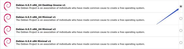 选择Debian Desktop Gnome系统