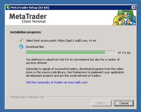 Raksmart vps主机安装MetaTrader 4(MT4)外汇软件