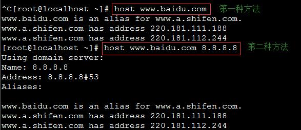 Linux中的host命令应用举例说明